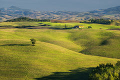 Tuscany - Landscape panorama, hills and meadow, Toscana - Italy Royalty Free Stock Photography