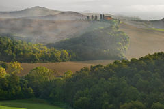 Tuscany - Landscape panorama, hills and meadow, Toscana - Italy Royalty Free Stock Image