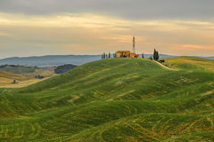 Tuscany - Landscape panorama, hills and meadow, Toscana - Italy Royalty Free Stock Images