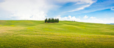 Tuscany landscape panorama in Val d'Orcia, Italy Stock Photo