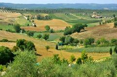 Tuscany landscape: Pienza, Italy Stock Photos