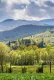 Tuscany landscape in the spring. The Tuscan landscape in the spring at a time of particular light Stock Image