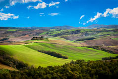 Tuscany. Landscape on a sunny day Royalty Free Stock Photo