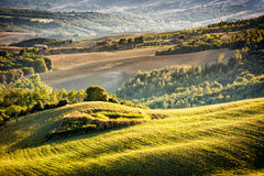 Tuscany landscape at sunset Royalty Free Stock Photography