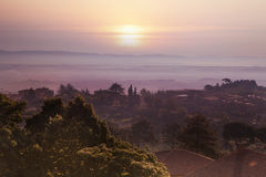 Tuscany Landscape at sunset Royalty Free Stock Images