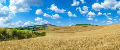Tuscany landscape with the town of Pienza, Val d'Orcia, Italy Stock Images