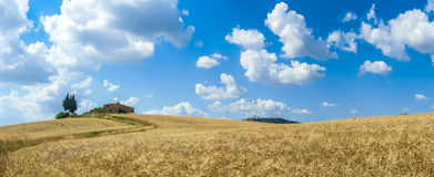 Tuscany landscape with the town of Pienza, Val d'Orcia, Italy Stock Photo