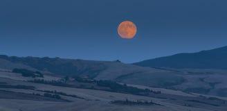 Tuscany landscape under the full moon Stock Photography