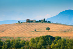 Tuscany landscape in Val d'Orcia Royalty Free Stock Images