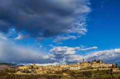 Tuscany landscape. A landscape of the village of Poppi in the Tuscan countryside Royalty Free Stock Photos