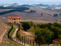 Tuscany landskap Royaltyfria Bilder