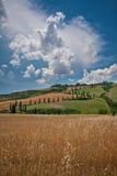 Tuscany landskap Arkivfoto
