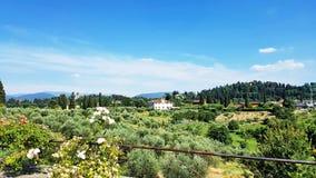 Tuscany landskap i Florence, Italien Arkivfoto