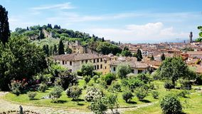 Tuscany landskap i Florence, Italien Royaltyfri Foto