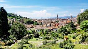 Tuscany landskap i Florence, Italien Royaltyfri Fotografi