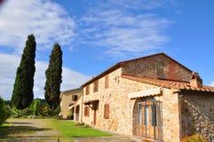 Tuscany lantbrukarhem siena Italien Arkivbild