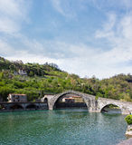 Tuscany, Magdalen Bridge, also known as, the Devil Stock Photography