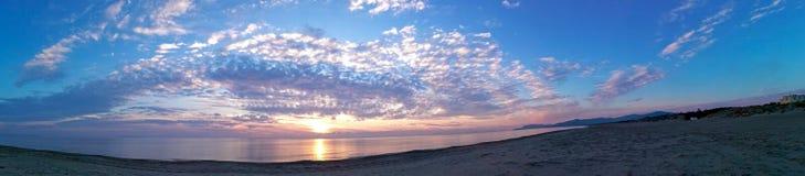 Tuscany Maremma, Grosseto, Castiglione della Pescaia, sunset panoramic photos on the sea. Maremma, Grosseto, Castiglione della Pescaia, sunset panoramic photos royalty free stock photography