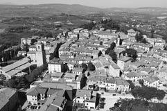 Tuscany mellan Arezzo och Siena Fotografering för Bildbyråer