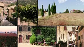Tuscany, montalcino stock video