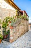 Tuscany Monteriggioni medeltida stad Arkivbilder