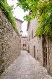 Tuscany Monteriggioni medeltida stad Royaltyfria Foton