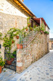 Tuscany Monteriggioni medieval city stock images