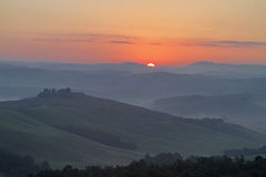 Tuscany morning in the Crete Senesi Royalty Free Stock Photography