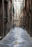 Tuscany. Morning in the Tuscan town Royalty Free Stock Photo