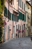 Tuscany. Morning in the Tuscan town Stock Images