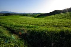 The hill of Tuscany, paradise is next C stock photography