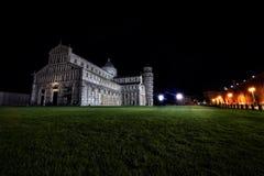 Night view of city of Pisa II stock photos