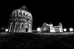 Night view of city of Pisa IV stock photography