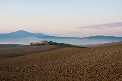 Tuscany near pienza. Farmhouse in the hills near Pienza, Montalcino and Montepulciano from Stock Photography