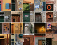 Tuscany numbers stock image