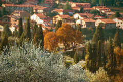 Tuscany old town Stock Photography