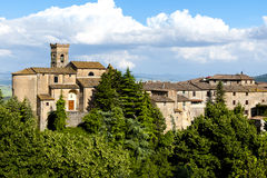 Tuscany - old village on the hill Royalty Free Stock Image