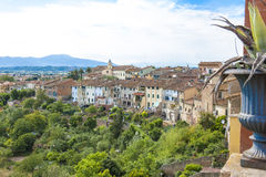 Tuscany - old village on hill Stock Photography