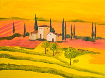 Tuscany in Orange royalty free stock photo