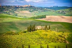 Tuscany på våren Arkivfoto