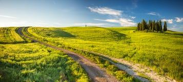 Tuscany på våren Arkivfoton