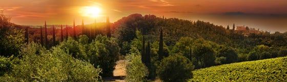 Tuscany panorama obrazy stock