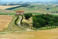 Tuscany. Panoramic views of the Tuscan hills Royalty Free Stock Image