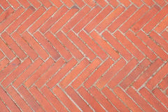 Tuscany paving pattern. Old Tuscany paving made of red bricks Stock Images