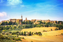 Tuscany, Pienza medieval village. Siena, Italy Royalty Free Stock Photo