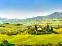 Tuscany przy wiosną obrazy royalty free