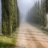 Tuscany. Ray of light over the tuscan hills Stock Photography