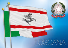 Tuscany regional flag, italy. Original file tuscany regional flag, italy royalty free illustration