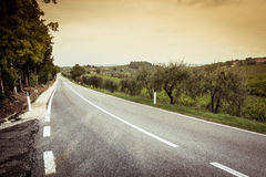 Tuscany road Royalty Free Stock Photos