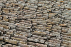 Tuscany roof tiles. Old roof tiles in tuscany Stock Photos
